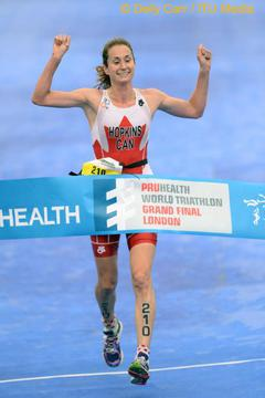 Jennifer Hopkins grabs third World Championship title at the Paratriathlon World Championships in London, England