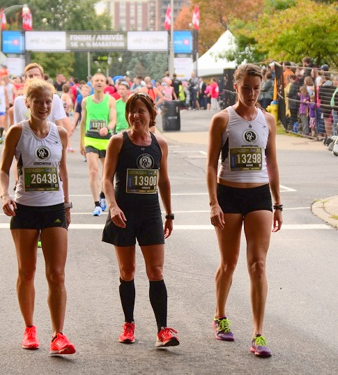 (L to R) Gro Jordalen, Carolyn Turner & Nadine Frost after the Army Run 5K.