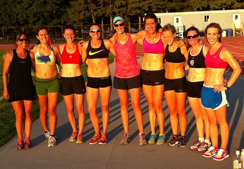 Members of the OAC Racing Team after a workout at Terry Fox Track in Ottawa.