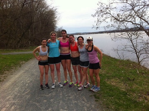 Members of the OAC Racing Team - Post Workout on the Rockcliffe Parkway Path - May 2014