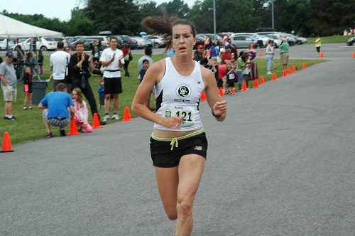 Nadine Frost placed 5th in the Sports 4 Emilie's Run 5K in 18:25.5