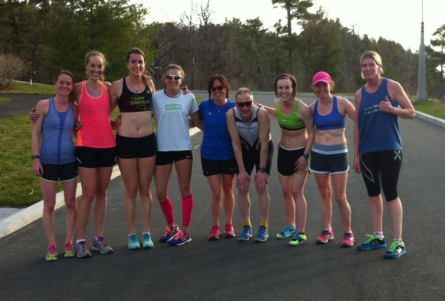 Members of the OAC Racing Team during the workout on the hilly Rockcliffe Park loop.