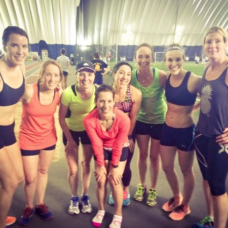 OACRT post-workout at the Dome Tuesday night