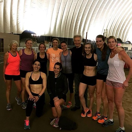 OACRT after a workout of 400s at the Dome Tuesday night