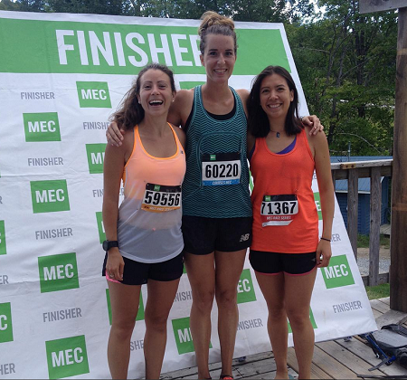 Alex placed 1st and Nadine placed 2nd in the 50k, and Erin placed 1st in the 20k at the MEC Gatineau Park Trail Races!