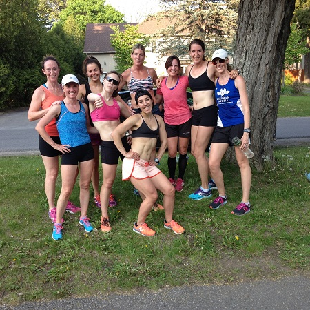 Members of the OAC Racing Team after their taper workout before Ottawa Race Weekend