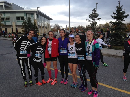 Members of the OAC Racing Team after the Rattle Me Bones race in Ottawa this morning.