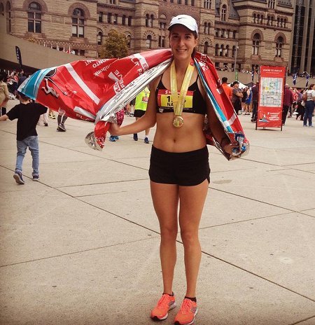 Nadine Frost ran 3:08:48.5 in her debut marathon st Scotiabank Toronto Waterfront.