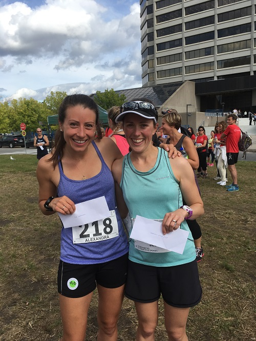 Alex Hynes and Jesse Blondin placed 1st (18:33.5) and 2nd (20:33.4) in the GCWCC Wellness Challenge 5K - October 5, 2017