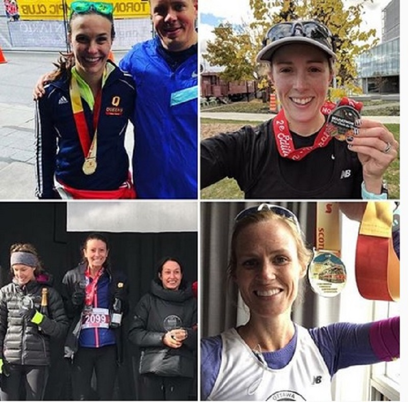 Four OACRTers who ran a marathon on Sunday - see results on the left.