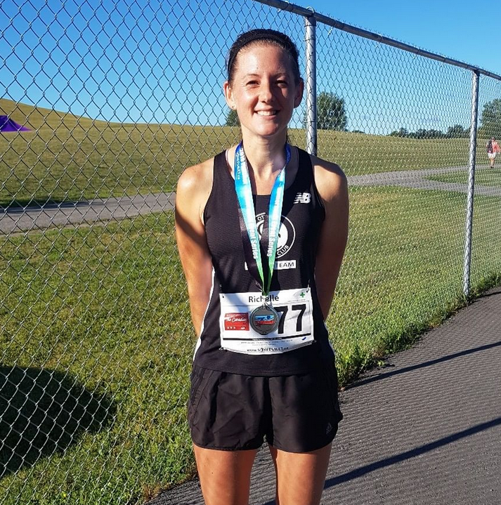 Richelle Weeks placed first in the Canadian 5K this morning in a PB 19:57.9