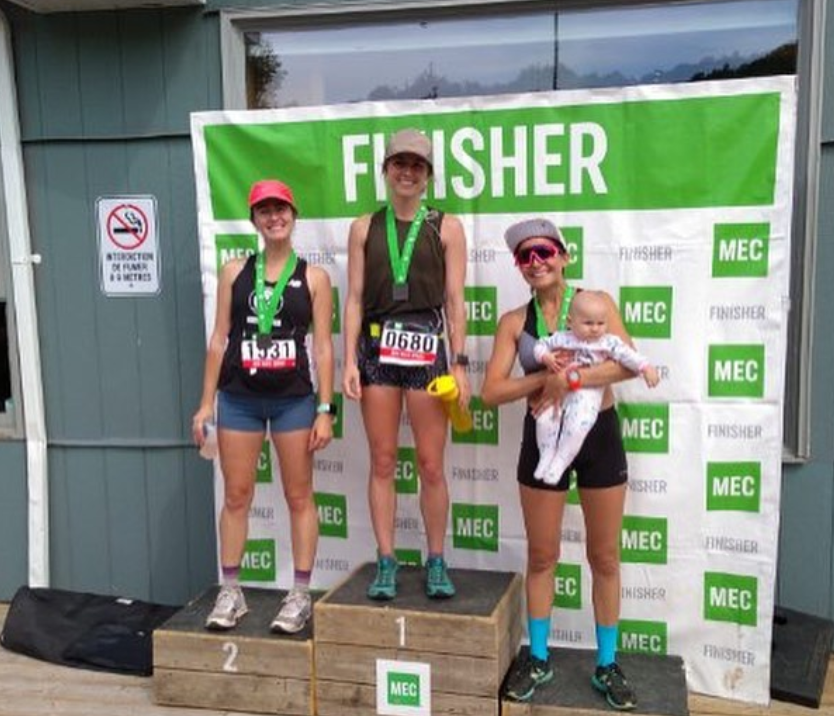 In her first-ever trail race Erika Houde-Pearce placed second in this morning's <b>MEC Ottawa Trail Race 20K</b> in a time of 1:40:41.0