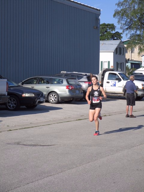 Veronica Allen placed second in Monday's Shore to Shore 13K in Wiarton, ON in a time of 52:47