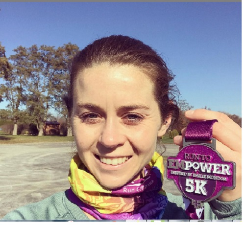 Veronica Allan ran 18:30 placing third in the  EMPOWER 5K VR .