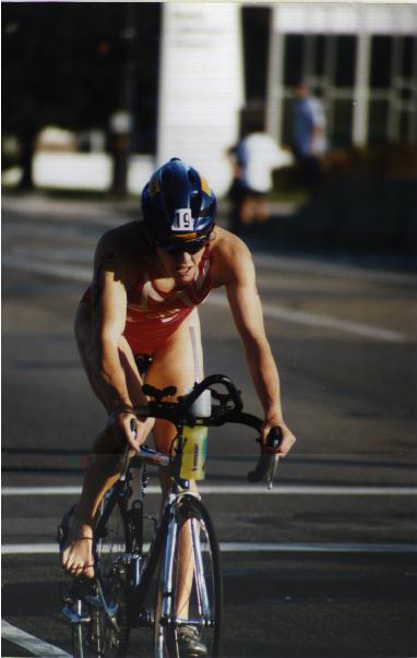 [Sharon Donelly at the 96 World Triathlon Championships in Cleveland, Ohio]