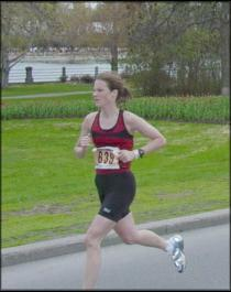 Stephanie running the 2003 National Capital Marathon